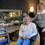 Jim Ratts and Mary in Raven Recording Studio