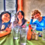 Stefi, Niki, Mary Having Breakfast at Martin Verdugo's
