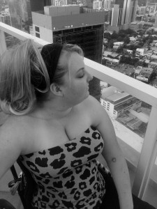 Hopeful for stem cell miracles, Brandy looking over the Panama City skyline.